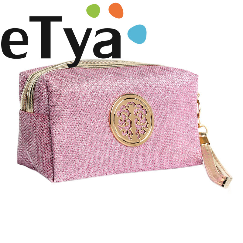 ETya Women's Fashion Korean Style Makeup Bag Portable Female Travel Cosmetic Zipper Bag Ladies Organizer Necessaries Pouch Case