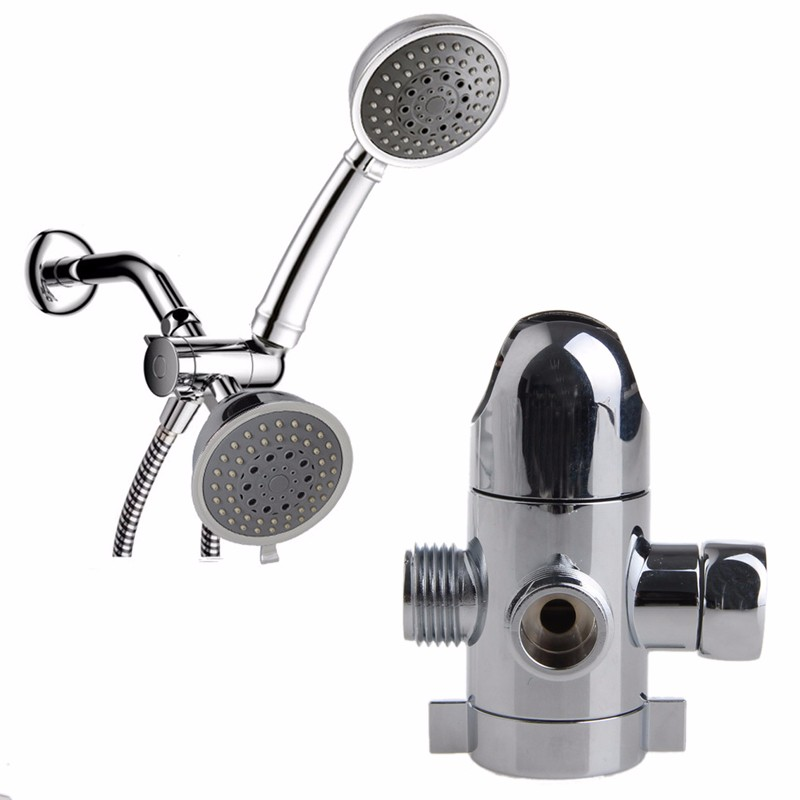 threeway shower head diverter mount combo shower arm mounted valve fix brackety122