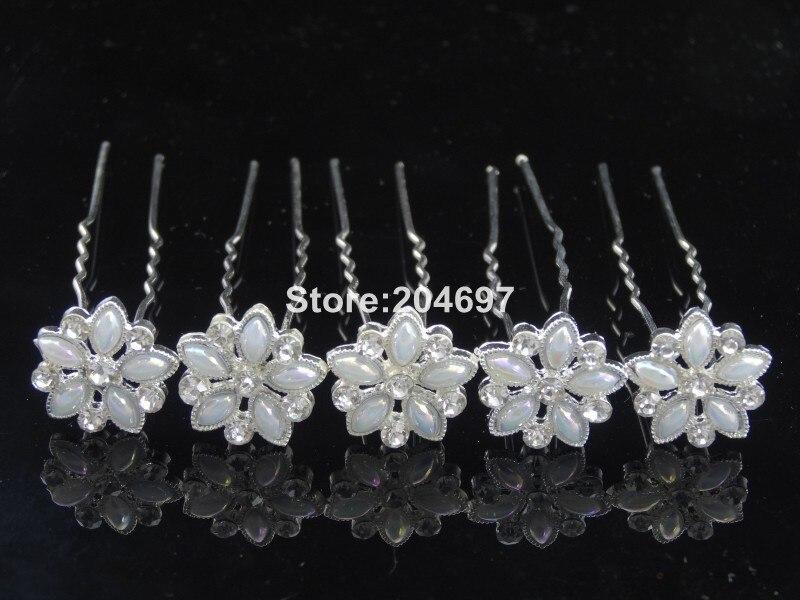 Feelgood 200pcs lot White Imitation Crystal AB Crystal Flower Hairpins Wedding  Hair Jewelry Accessories Wholesale-in Hair Jewelry from Jewelry    Accessories ... 7017b1553ced