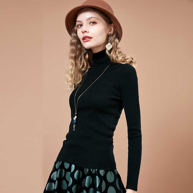 ARTKA 2018 秋の新セーター女性の長袖タートルネックスリム底入れシャツ女性のプルオーバーセーター YB12188D
