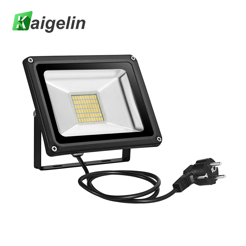 Us 19 49 22 Off Kaigelin Led Flood Light 30w 220v Outdoor Lighting Refletor Eu Plug Spotlights Floodlight Projector Exterior Street Lamp In