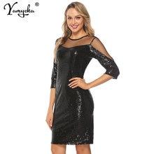 Соблазнительное черное Сетчатое прозрачное летнее платье в стиле