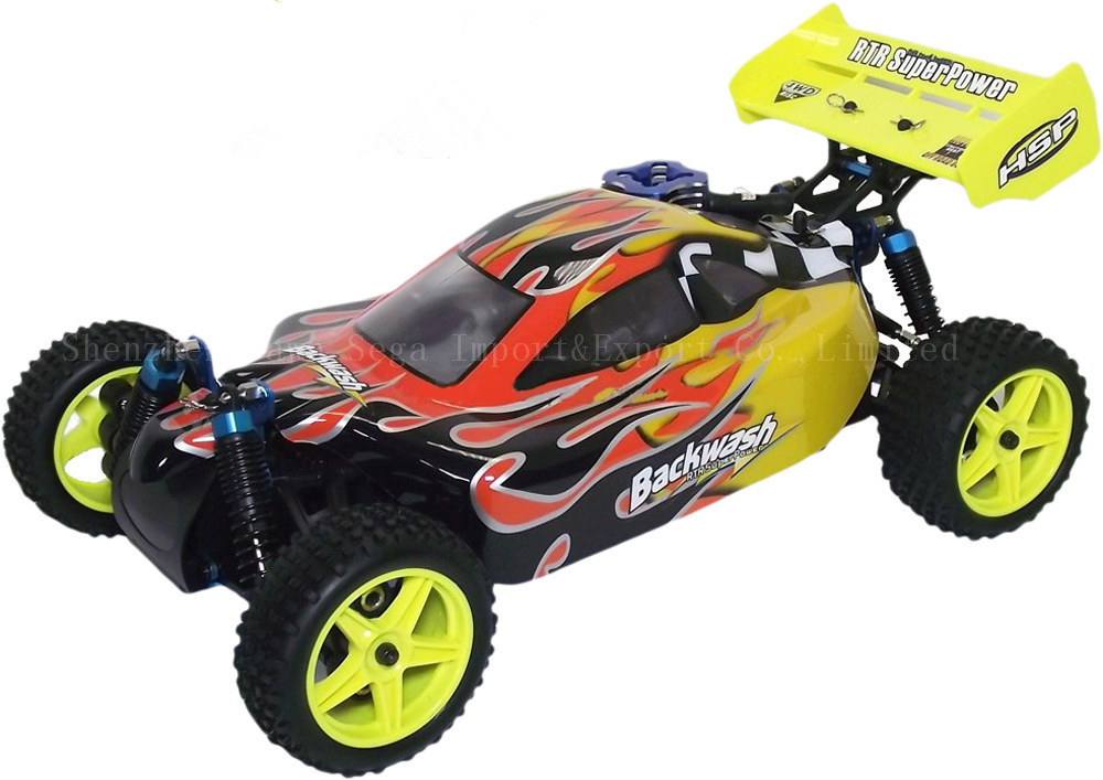 HSP Baja 1/10 Nitro Power Off Road Buggy Backwash 94166 4WD 2 SPEED With 2.4G Radio Control RC Car with 2.4G Remote Control Toys 2pcs rc car 1 10 hsp 06053 rear lower suspension arm 2p for 1 10 4wd rc car hsp 94155 94166 94177