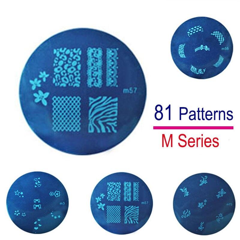 81 Design Stainless Steel Nail Art Plates Nail Stamping Stencils Image Printing Templates Decoration Nail Polish Christmas Gift