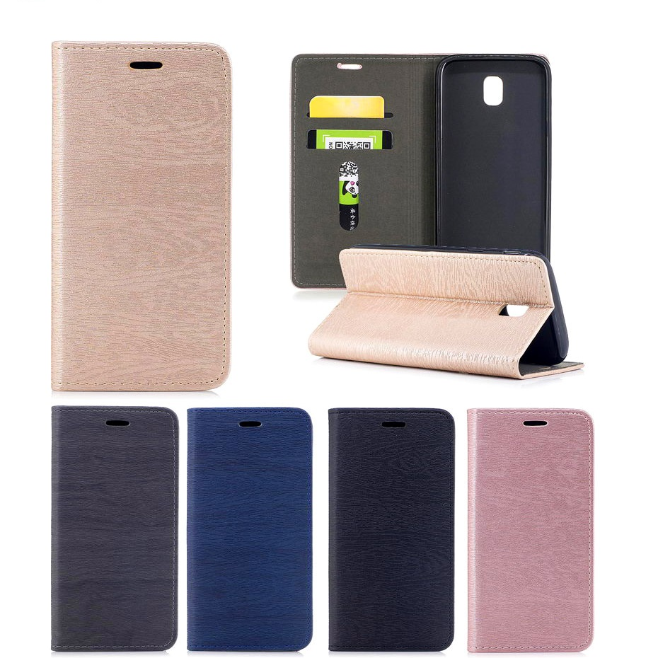 Fitted Case For Samaung galaxy J3 J5 J7 3017 J330 J530 Phone Case Tree Bark Pattern Automatic suction Leather Wallet Cases