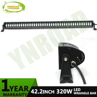 YNROAD New type 320W 42inch LED wrangler Light Bar led offroad bar with high low beam for offroad,4x4 ,4WD, ATV, UTV use