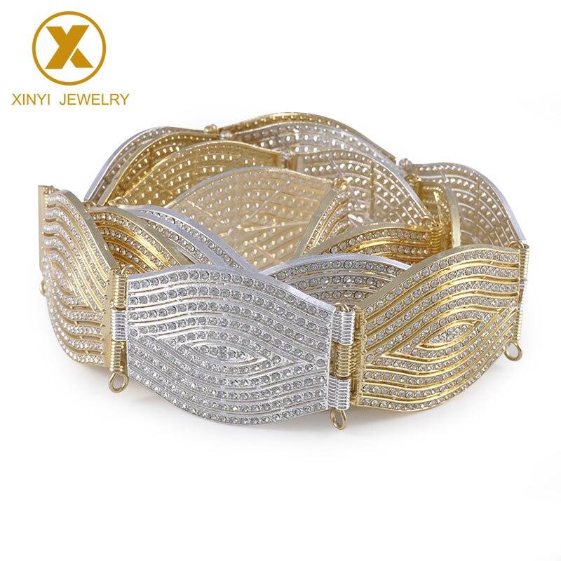 Full Diamonds Europe Popular Vogue Female Waist Chain Wedding Adornment Waist Chain Elegant Fashionable Chatelaine Young Woman
