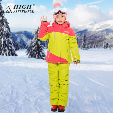 ALTA ESPERIENZA di Nuovo Stile delle ragazze, i ragazzi Giacca + Pantaloni Antivento Impermeabile di Sport Esterno di Usura di Campeggio Equitazione Sci Snowboard