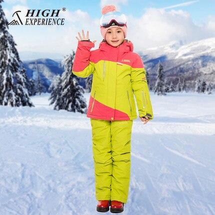 HAUTE EXPÉRIENCE Nouveau Style filles, garçons Veste + Pantalon Coupe-Vent Imperméable À L'eau En Plein Air Vêtements de Sport Camping Équitation Ski Snowboard