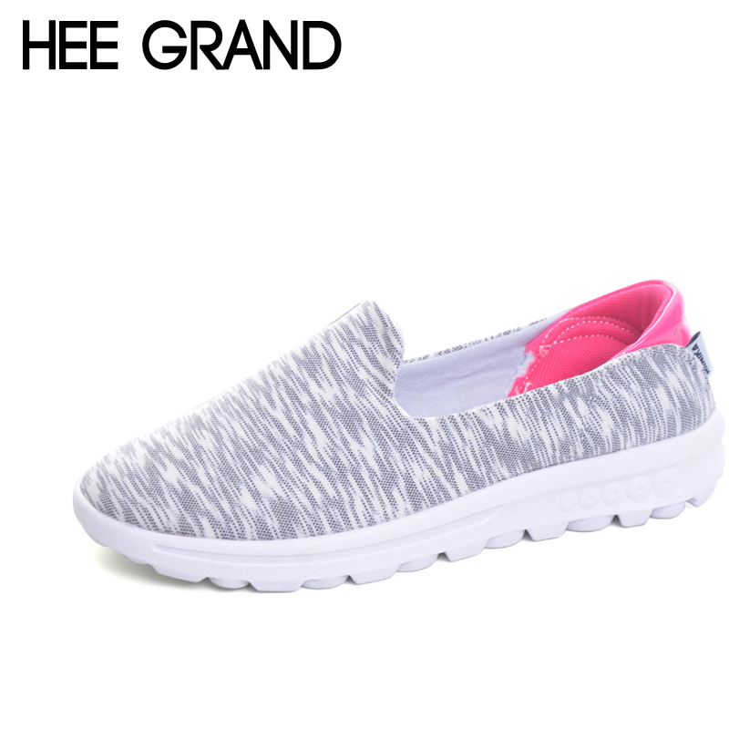 HEE GRAND Comfortable Loafers 2017 Casual Creepers Slip On Shoes Woman Shallow Flats Spring Autumn Women Flat Shoes XWC1032 hee grand 2017 creepers summer platform gladiator sandals casual shoes woman slip on flats fashion silver women shoes xwz4074
