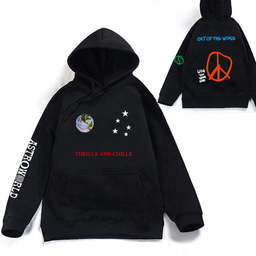 Astroworld THRILLS AND CHILLS Hoodies Spring Autumn Streetwear Pullover Travis Scotts Young Men Women FashionHip Hop Printing(China)