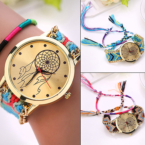 2018 New Arrival New Women's Dreamcatcher Friendship Wrist Watches Braid Dress Bracelet Watches  6KH8
