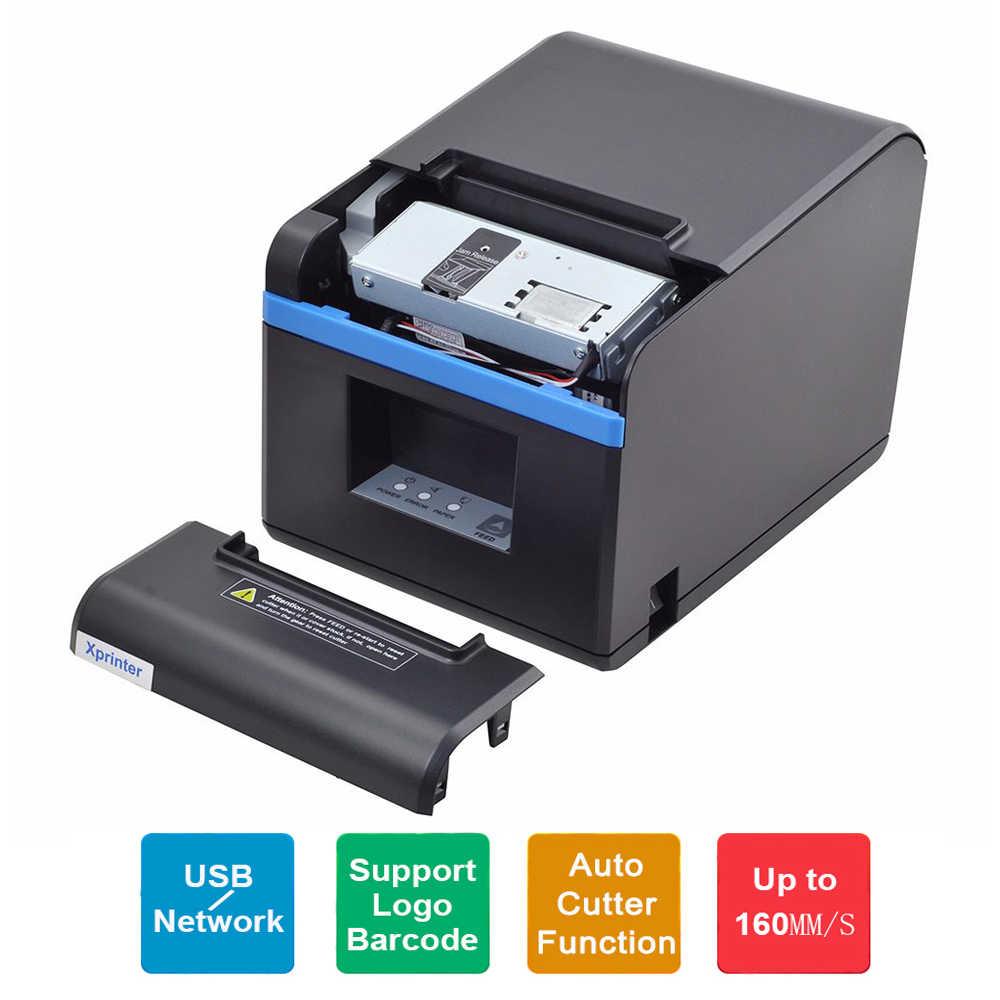 80mm Pos Impressora de Recibos térmica Impressora Com Cortador Automático USB LAN Bluetooth WIFT Porta Para Cozinha do Restaurante 260 m/s