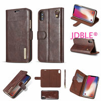 JDBLE Luxury Flip Stripe Adsorption Cover For IPhoneX 10 Cases Real Genuine Leather Vintage Wallet Phone