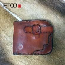 AETOO кожаный кошелек с деревом в стиле ретро цветной женский длинный кошелек