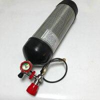CE Сертификация airsoft пистолет Пейнтбол Бак 6.8L 4500psi углеродное волокно Подводное цилиндр и клапан и АЗС