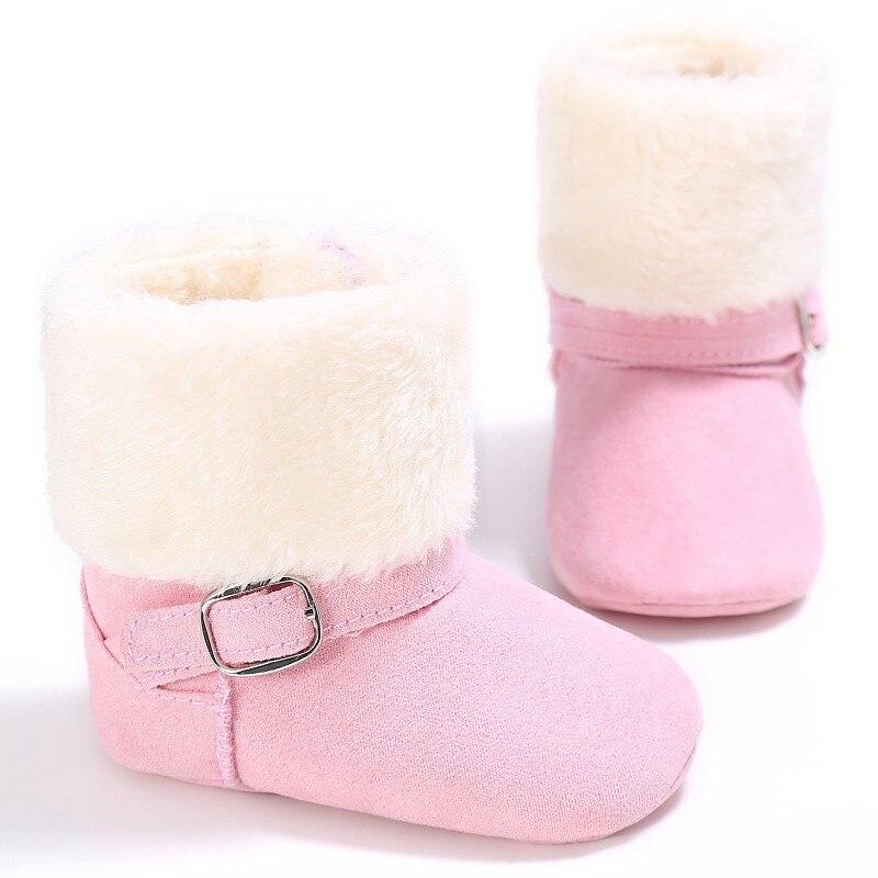 Baby Girls Boys Winter Unisex Snow Kids Warm Fleece Style Boots Anti-skid Cack Shoes