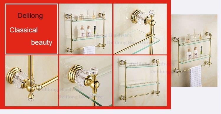 En laiton D\'or Couleur Cristal Porte Serviette Mural Tour Rack Boîte ...