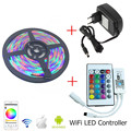 SMD 3528 RGB Waterproof Led Strip Lighting 5m 10m 15m 12v 60leds/m tira led rgb +24 IR Remote Wifi RGB LED Controller +12V Power