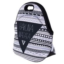 Fashion Insulated Lunch Bag Portable Bag Grey black