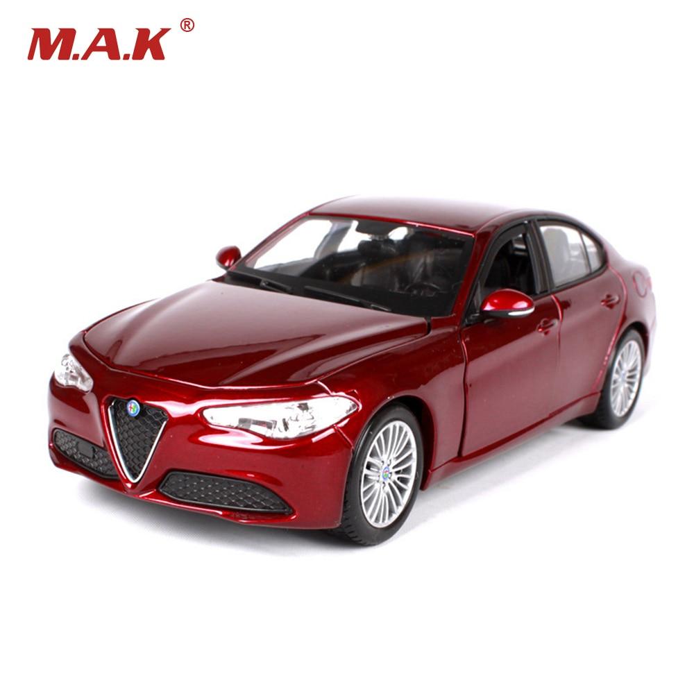01:24 2016 Alfa Romeo Джуліо мадэлі суцэльналітай аўтамабіля brinquedos дар Дзіцячыя цацкі для дзяцей хлопчыкаў