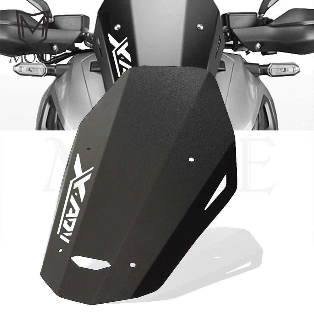 For Honda XADV X ADV 750 2018 2019 Motorcycle Windshield Windscreen Extension Deflector XADV Aluminium Spoiler