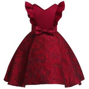 Image 5 - פרח ילדה רומנטי חתונה מסיבת משתה שושבינה כתף שמלת ילדה יום הולדת מסיבת ביצוע סעודת האדון מסיבת שמלה