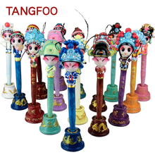 Chinese Kawaii comedy Craft Peking Opera Ballpoint Crafts Q version cartoon gel pen Vogue Handicraft Promotional Pen home decor