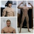 "1/6 figure accessory seamless male body with metal skeleton USA&Europe bulging muscles in suntan for 12"" action figures doll"