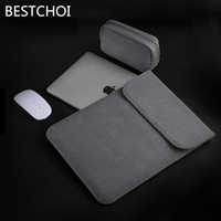 New Laptop Leather Case For Apple Macbook Air Pro Retina 11 12 13 15 Inch Sleeve