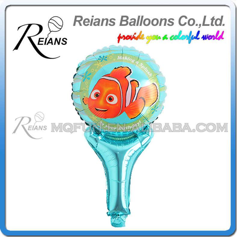 REIANS 51cm cute cartoon children kids Finding Nemo fish handhold stick Party birthday aluminum foil balloon party supplies