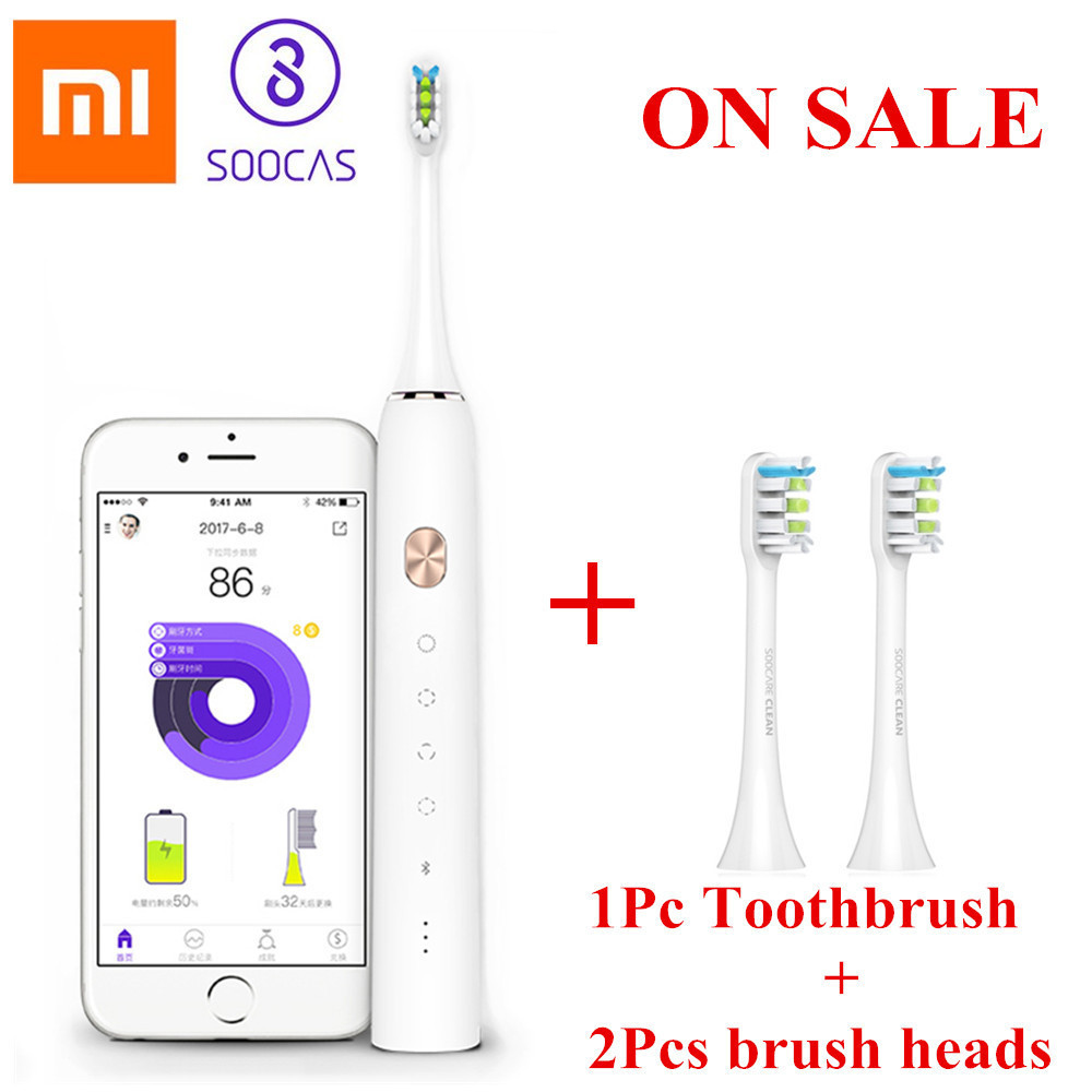 Xiaomi Mijia Toothbrush Soocare X3 Soocas Upgraded Electric Sonic Smart Clean Bluetooth Waterproof Wireless Charge Mi Home APPXiaomi Mijia Toothbrush Soocare X3 Soocas Upgraded Electric Sonic Smart Clean Bluetooth Waterproof Wireless Charge Mi Home APP