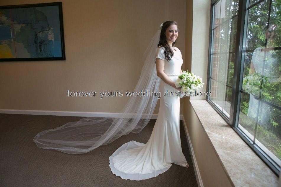 Pippa Middleton Inspired Wedding Dress with Georgette and Stretch ...