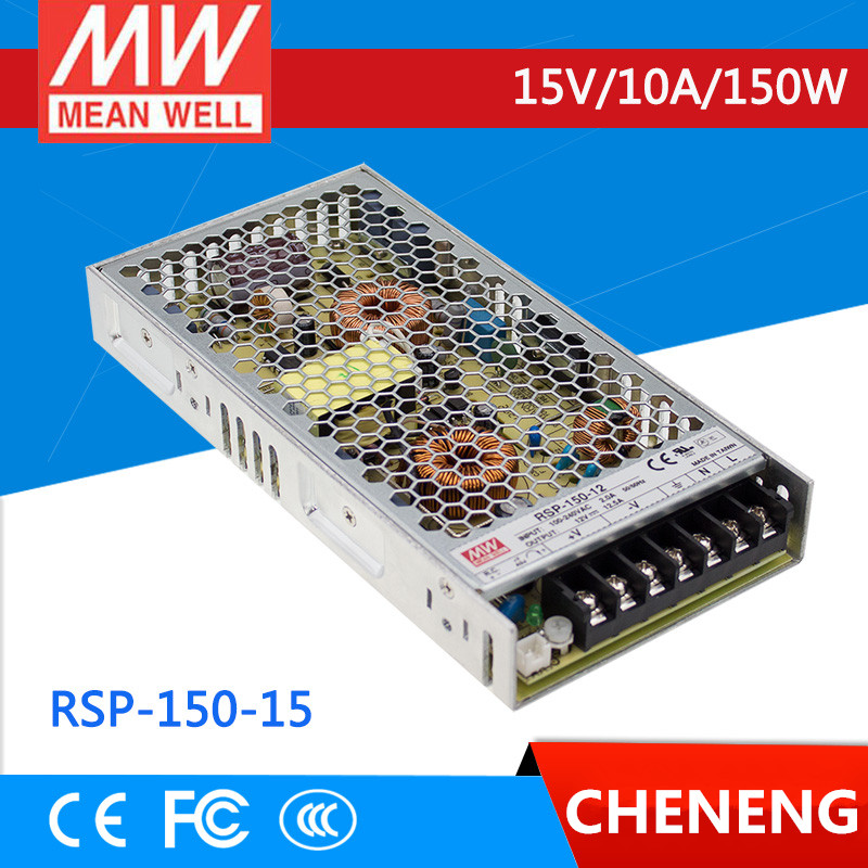 MEAN WELL original RSP-150-15 15V 10A meanwell RSP-150 15V 150W Single Output with PFC Function Power Supply [mean well1] original epp 150 15 15v 6 7a meanwell epp 150 15v 100 5w single output with pfc function
