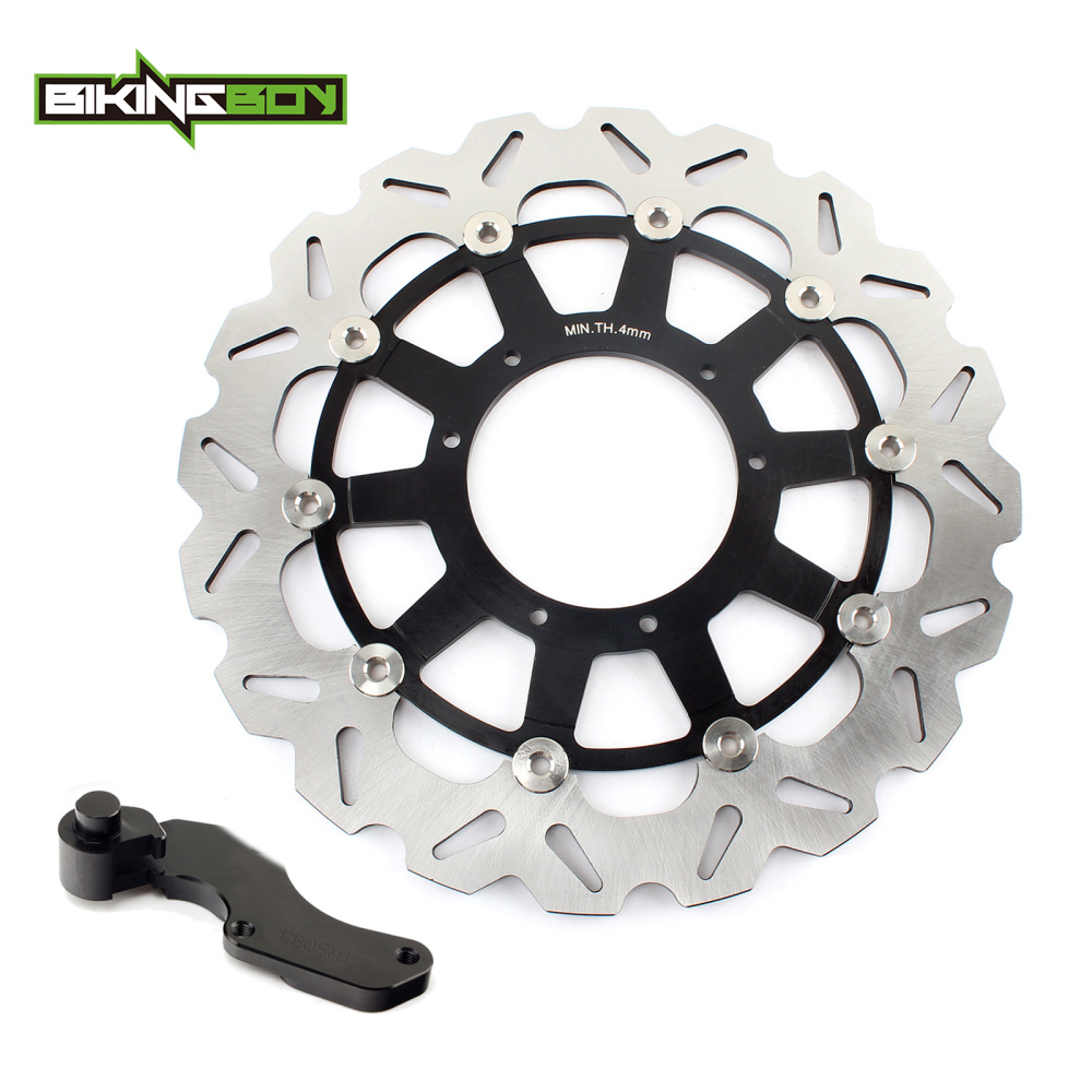 BIKINGBOY Oversize 320mm Front Disc Disk Rotor Bracket For CR 125 250 R E CRF 250 450 R SUPERMOTARD CRF 250 450 X 17 16 15 14 13