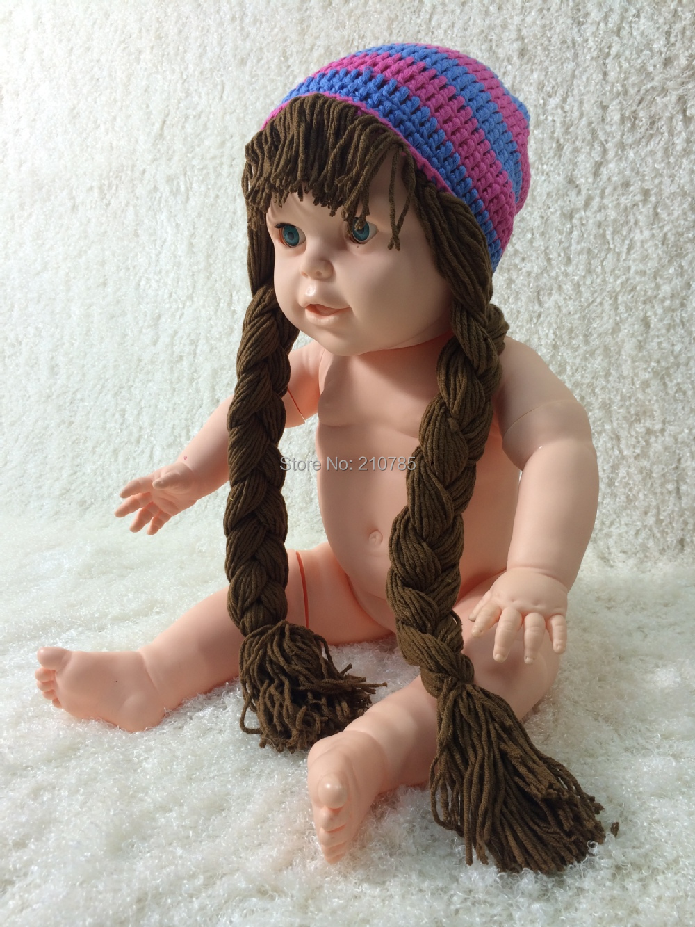 Free shipping Handmade crochet Baby Girl Hat Cabbage Patch Hat ...