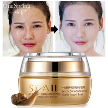 OneSpring Snail Essence Face Cream Face Care Moisturizing Anti Aging Whitening Facial Skin Anti Wrinkles Lifting Skin Care 2017 hot sale portable anti aging fractional rf dot matrix anti aging facial skin care spa salon beauty tool