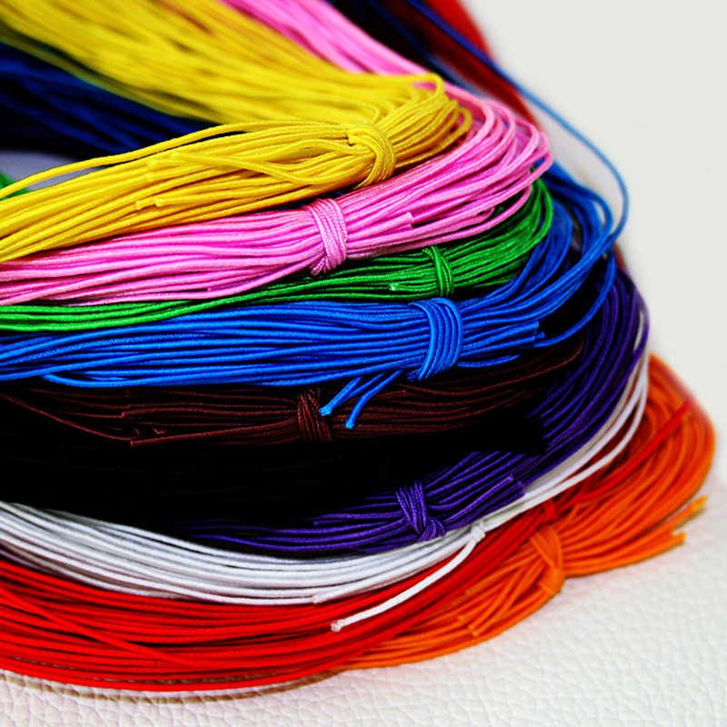 25 Meters 1MM Elastic Band Beading Elastic Stretch Cord Beads Cord String Strap Rope Bead Bracelet for Jewelry 9 Colors