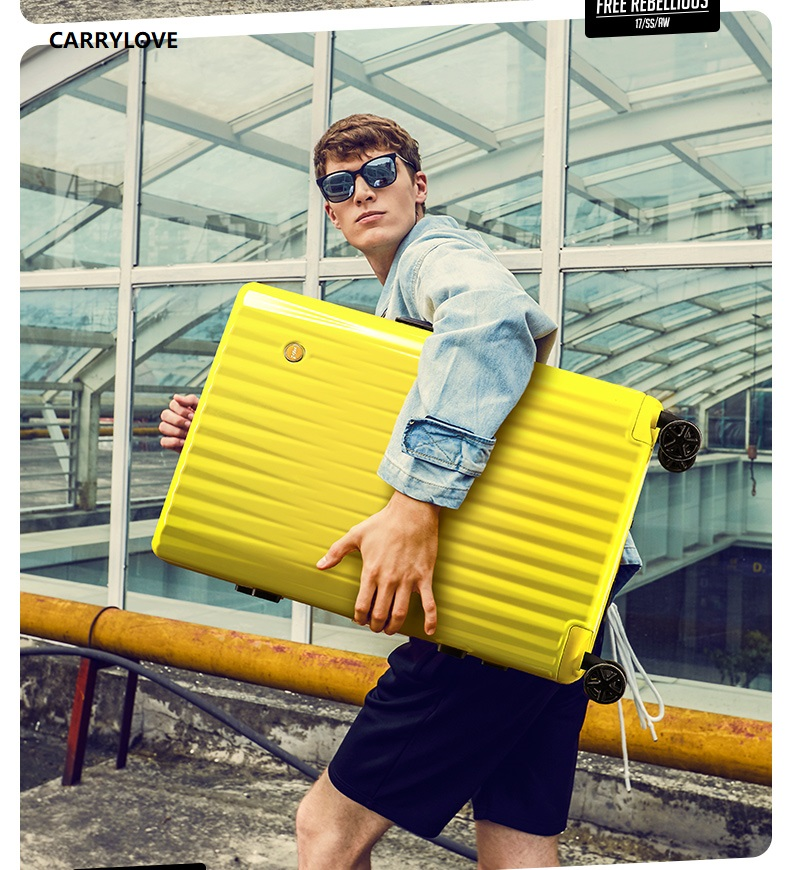 CARRYLOVE personality Retro High capacity luggage series 20/24/26/29 inch size PC Rolling Luggage все цены