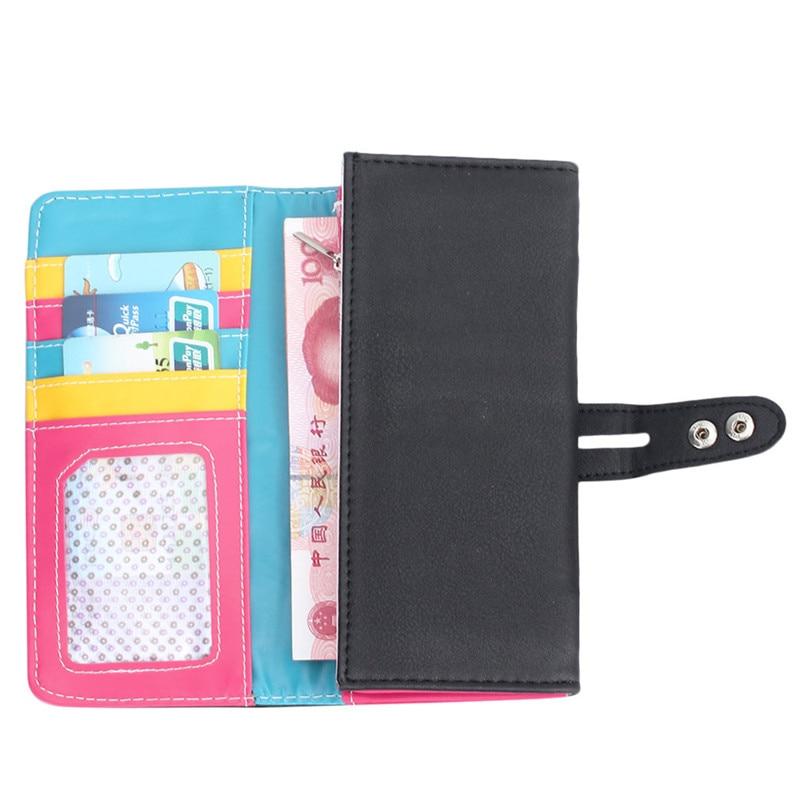 New Fashion Wallet Women Small Fresh Wallet Mobile Phone Bag Leather Hasp Long Design Purse Women's Wallets dames portemonnee 6