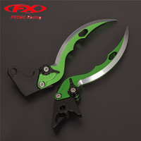 FX CNC Aluminum Adjustable Motorcycle Knife Blade Brake Clutch Levers For Kawasaki Vulcan 900 all variations 2006 2016 2015 14