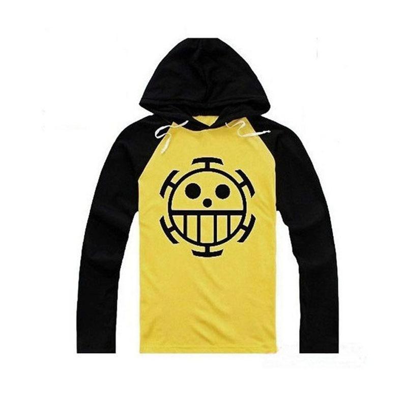 Anime One Piece Cosplay Trafalgar Law Hoodies Clothing Halloween Costume Unisex Sportswear Long Sleeve Hooded T-shirt Tops