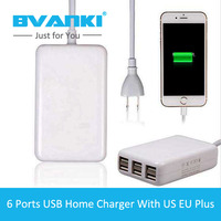 Bvanki Hot Sale Multiple USB 6 Ports Wall Charger With 1 53m Cable Best Selling