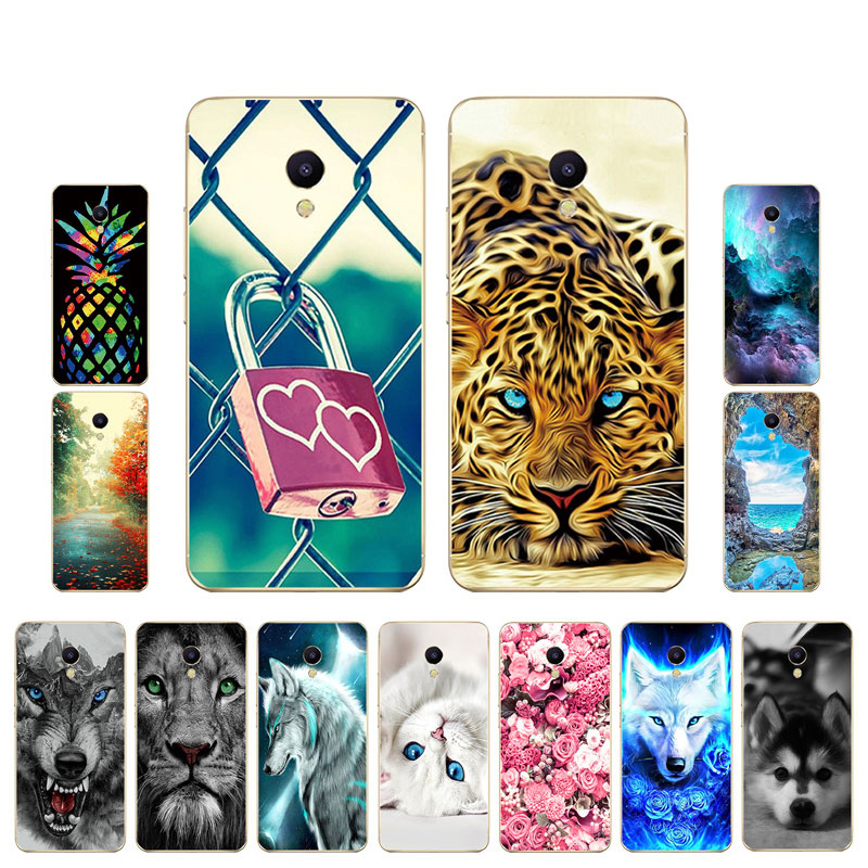 For Meizu X8 16X Case Soft TPU Capas Back Cover Tiger Painted On For Meizu M2 M3 M5 M6 Note Phone Cases Silicone Bumper Fundas