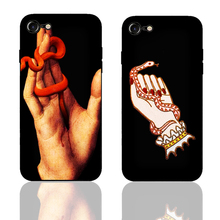DK Hand Snake Painting Culture Art phone case black cover for Samsung s8 s9plus S6 S7e S5 for iPhone 6s 7 8plus 5 X XS XR XSMax