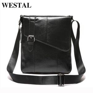 Image 4 - Westal Messenger Shoulder Women Men Bag Genuine Leather Briefcase Office Business Work For Tablet Handbag Male Female Portafolio