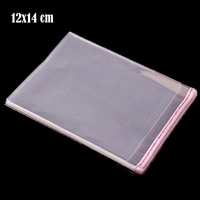 400pcs New Self Adhesive Seal Plastic Packaging Bag For Candy 12cmx14cm 3cm Clear Small Gift Bags