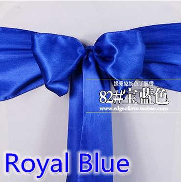 Cor azul Royal decoração do casamento bow tie banda cadeira faixa de cetim chair sash partido hotel show decoração sash brilhante cor