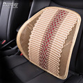 High Quality Braid Lumbar Cushion For Car Office Chair Massager Seat Back Lumbar Support Luxury Black Red Beige
