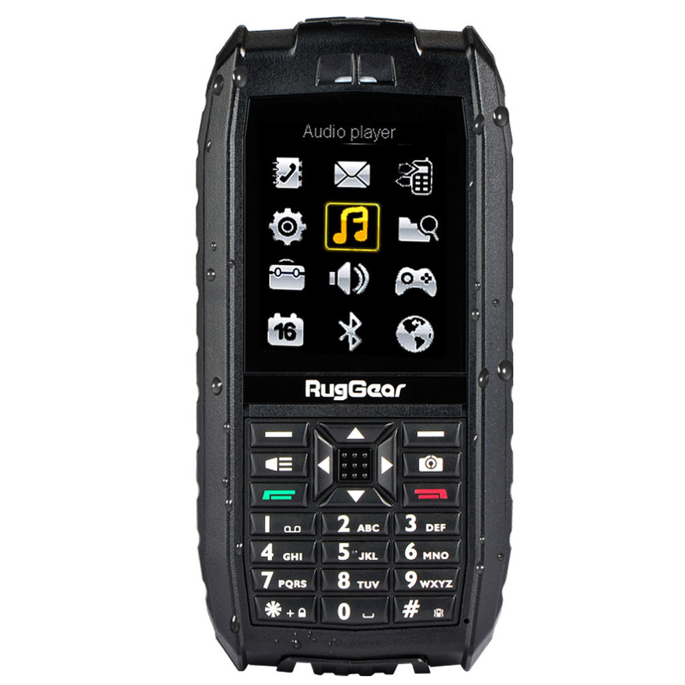 RugGear RG128 – waterproof phone – floatable phone (Black)